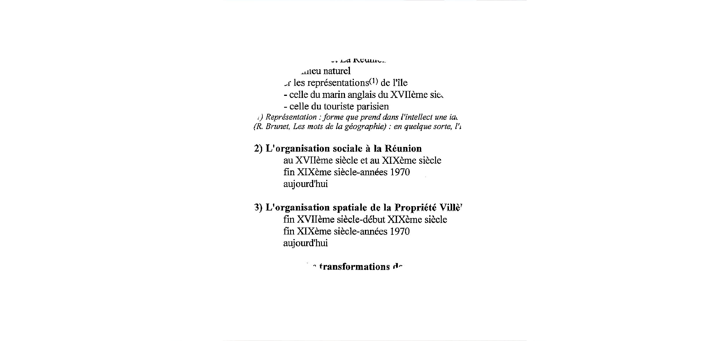 Etude d'un film vidéo : Saint-Gilles (Ile de La Réunion)