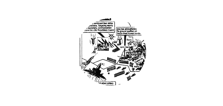 Représentation cartographique de la guerre du Golfe