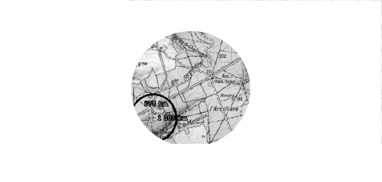 Correction géométrique d'une image satellitale sur une carte topographique
