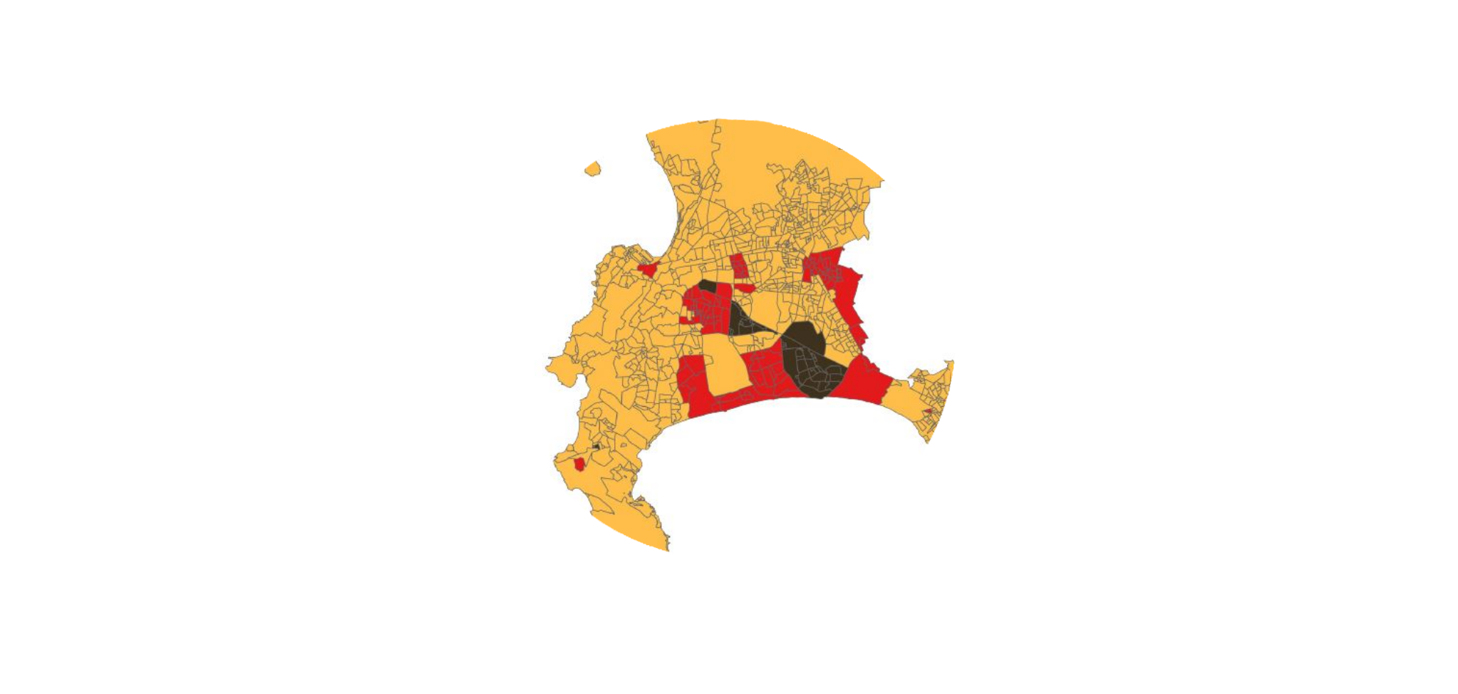 Analyse de données et cartographie – Devoir sur table. Étude de la ségrégation urbaine au Cap (Afrique du Sud)