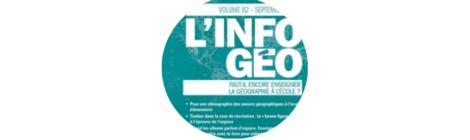 Brève: un numéro d'Info Géo consacré à la didactique de la géographie