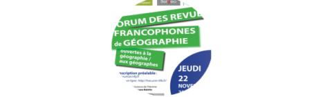 Les Feuilles de géo au Forum des revues de Lille le 22 novembre 2018